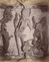Figures in Rameshwar cave [Ellora]